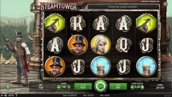 Игровой автомат Steam Tower - в казино Вулкан Платинум играть выгодно