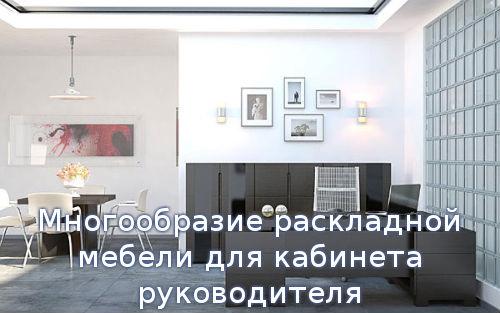 Многообразие раскладной мебели для кабинета руководителя