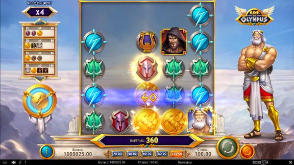 Слот Rise Of Olympus - в клуб вулкан играть онлайн на деньги